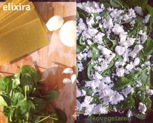 Lær at lave vegansk / vegetarisk lasagne med linse-plader, gurkemeje og spinat. Elixira sundhed er mere end hvad du spiser.